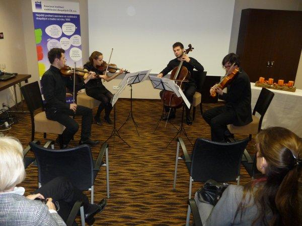 Vystoupení smyčcového kvartetu Pražské konzervatoře