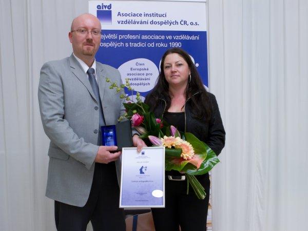Zástupci Centra andragogiky, s.r.o. - Vzdělávací instituce roku 2012